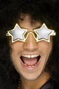 Sterne Partybrille gold