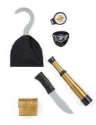 Piraten Set mit Kompass Kostüm-Accessoires 5-teilig bunt