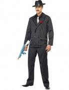 Gangster-Kostüm schwarz-weiss