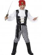 Nobler Pirat Kinder-Kostüm schwarz-weiß