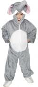 Elefantenkkostüm für Kinder grau-weiss
