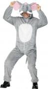 Elefant Unisex Plüschkostüm Tierkostüm grau-weiss