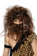 Neandertaler Perücke Deluxe braun