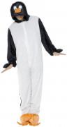 Pinguin-Kostüm für Erwachsene schwarz-weiss-orange