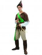 Robin Hood Herrenkostüm grün-braun