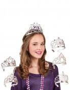 Prinzessin Diadem für Kinder silber-bunt