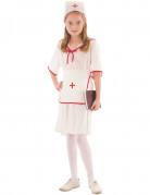 Kinderkostüm Krankenschwester rot-weiss