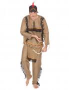 Indianer Herrenkostüm beige-bunt