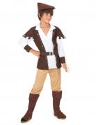 Robin Hood Kinderkostüm braun-weiss