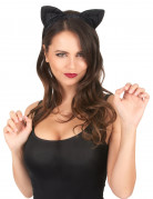 Katzenohren Tierohren schwarz