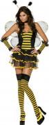 Sexy Biene Kostüm schwarz gelb