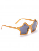 Disco Party-Brille Sterne gold