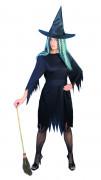 Klassische Hexe Halloween-Damenkostüm schwarz