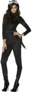 Kätzchen Damen-Kostüm schwarz