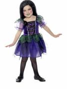 Kleine Spinne Hexen Kinder-Kostüm lila-schwarz-grün