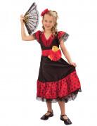 Spanierin Kinderkostüm Tänzerin schwarz-rot
