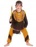 Wilder Indianer Kinderkostüm beige-braun