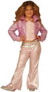 Popstar-Kostüm für Kinder Fasching rosa