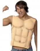 Muskulöse Herkulesbrust Muskelshirt für Herren beige