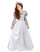 Zarte Prinzessin Kinderkostüm weiß-silber