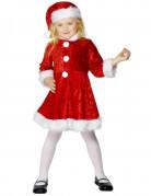 Kleine Weihnachtsfrau Kinderkostüm Weihnachten rot-weiss