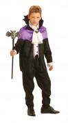 Dracula Halloween-Kinderkostüm violett