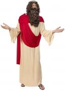 Jesus Kostüm mit Perücke und Bart beige-rot