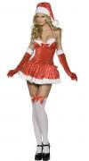 Heisse Miss Santa Damenkostüm Weihnachtsfrau rot-weiss