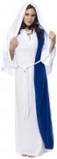 Maria Damenkostüm Weihnachten weiss-blau