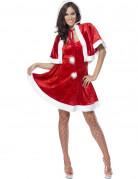 Heisse Weihnachtsfrau Damenkostüm Santa rot-weiss