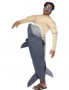 Hai Attacke Kostüm blau-haut