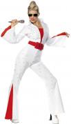 Elvis Kostüm weiss-rot