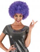 Afro-Perücke lila