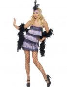Diva Kostüm Flapper lila-schwarz
