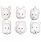 Tiermaske für Kinder zum Ausmalen