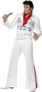 Elvis Kostüm Karneval weiss-bunt