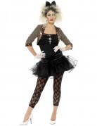 80er Jahre Punk Damenkostüm schwarz-braun