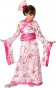 Asien-Princess Kimono Kinderkostüm weiss-rosa