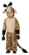 Süsse Giraffe Kinderkostüm Jumpsuit braun-beige