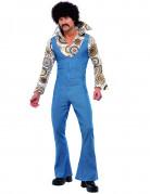 Disco Tänzer Kostüm 70er Jahre blau-bunt