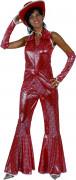 Disco-Kostüm Damen rot
