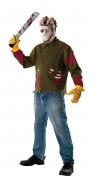 Jason Voorhees™ Killer-Kostüm für Erwachsene grün-rot-weiß