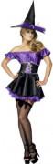 Zauberin Hexe Damen-Kostüm schwarz-lila