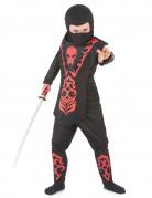 Ninja Kinder-Kostüm schwarz-rot