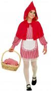 Rotkäppchen Märchenkostüm für Kinder rot-weiss