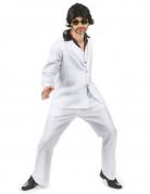Disco Anzug-Kostüm 70er weiss