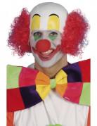 Glatzen Clown-Perücke weiss-rot