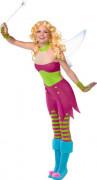 Rebel Toons Tinkerbell Glöckchen Damen-Kostüm rosa-grün