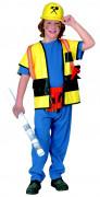 Bauarbeiter Kinderkostüm blau-gelb
