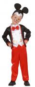 Maus im Anzug Kinderkostüm schwarz-weiss-rot